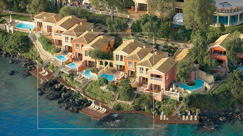 Dream Villa Corfu | Located direct on the seafront, these intimate villas overhanging the Ionian Sea