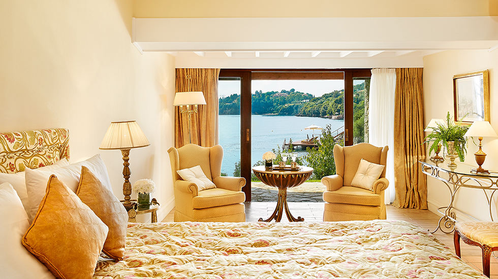Junior Bungalow Suite|A country-style Bungalow Suite offering views over palm fringed gardens running down to the sea
