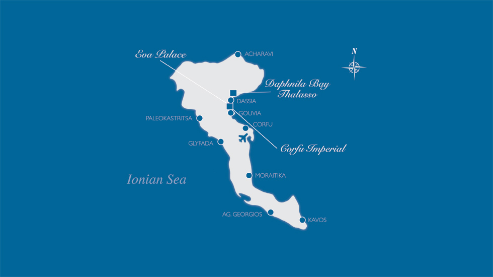 Corfu Imperial Directions & Map