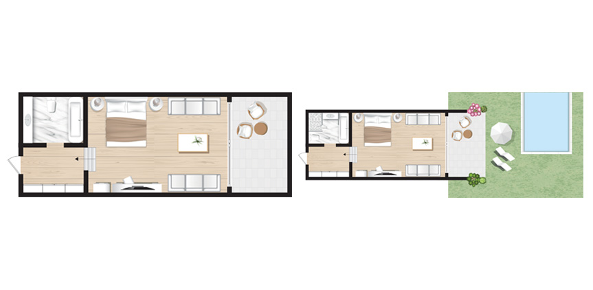 Corfu-Imperial-Family-Bungalow-Open-Plan-with-Sharing-Pool-Floorplan