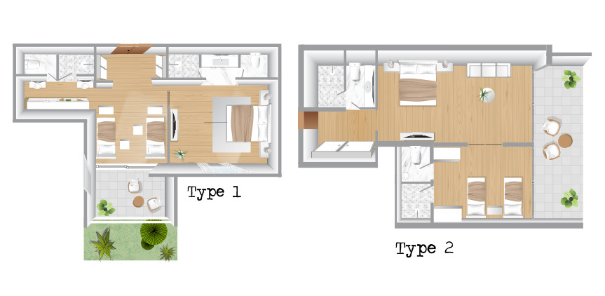 two-bedroom-family-suite-accommodation-in-corfu-floorplan
