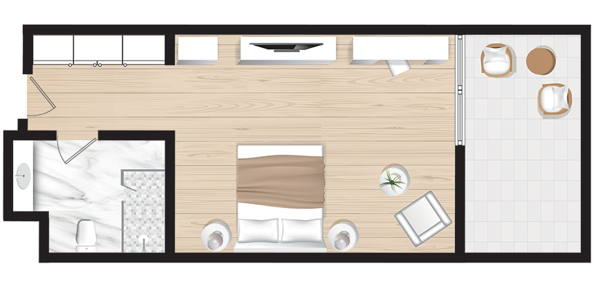 Corfu-Imperial-New-Cruise-Guestroom-Sea-View-Floorplan
