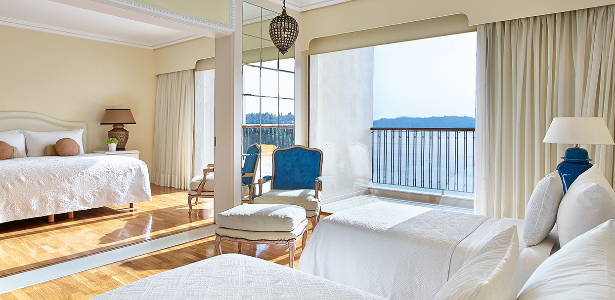 Deluxe Family Room Sea View Corfu Imperial Luxury Hotel