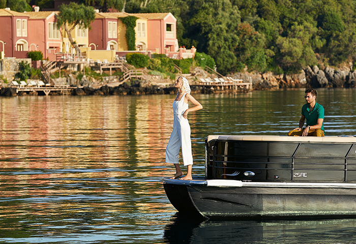 luxury-pontoon-sea-transfer-in-corfu-imperial-grecotel-hotels